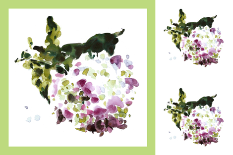 cestlaviv_PillowTalkCollection_hydrangea new 36x36 fabric by cest_la_viv on Spoonflower - custom fabric
