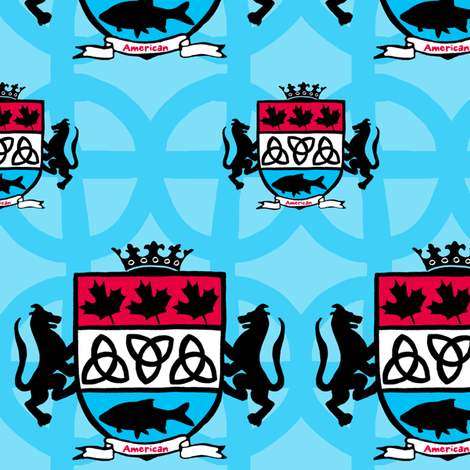My American Family Crest! fabric by pattyryboltdesigns on Spoonflower - custom fabric