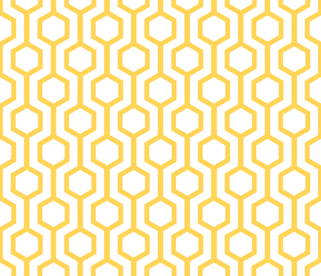 gold lattice fabric by amybethunephotography on Spoonflower - custom fabric