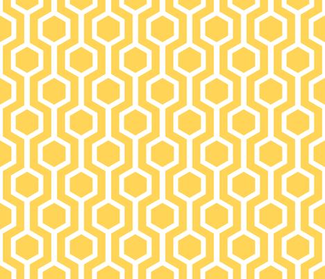 white lattice on gold fabric by amybethunephotography on Spoonflower - custom fabric