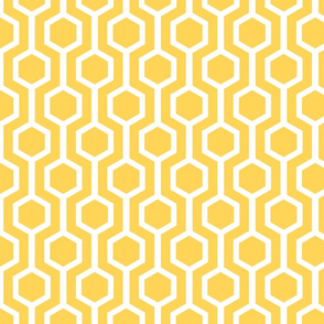 white lattice on gold