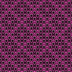 Little Kitty Geometric in Fuchsia
