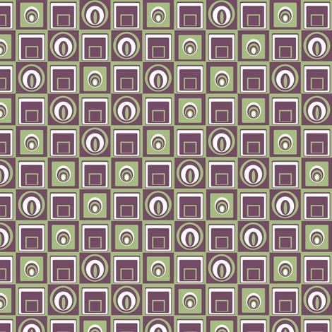 Geometric Retrobution fabric by lovekittypink on Spoonflower - custom fabric