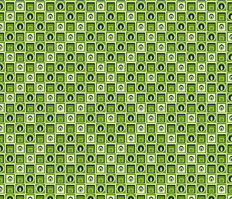 Verdant Geometric Retrobution fabric by lovekittypink on Spoonflower - custom fabric