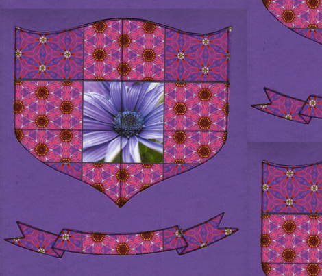 Flower Power Family Crest fabric by dovetail_designs on Spoonflower - custom fabric