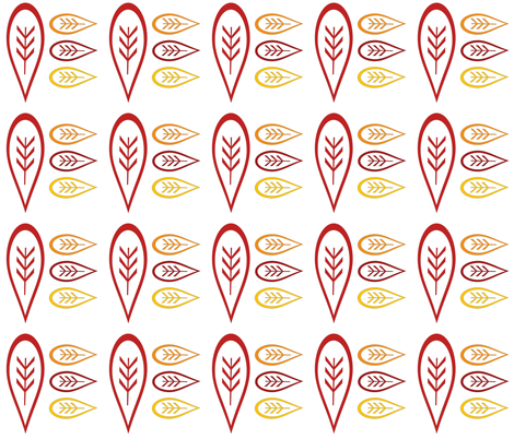 Autumn Retro Leaves  fabric by scorpiusblue on Spoonflower - custom fabric