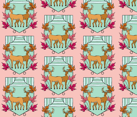 Crest for a sweet family fabric by lucybaribeau on Spoonflower - custom fabric