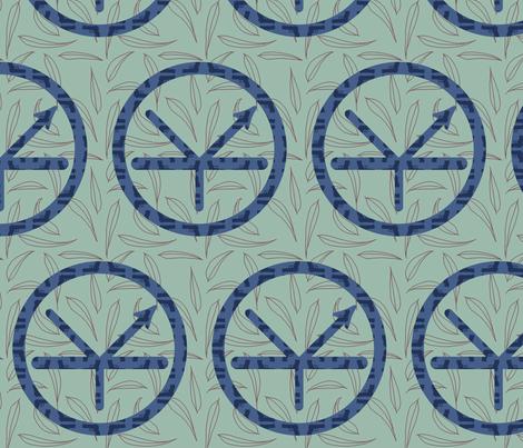 Mongiesama's Transistor Kamon - Japanese-style family crest fabric by mongiesama on Spoonflower - custom fabric