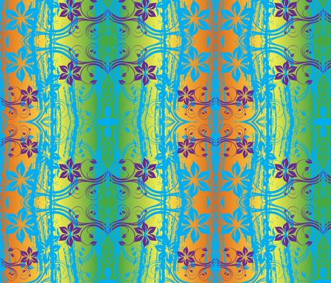 Jungle Flowers fabric by flyingfish on Spoonflower - custom fabric