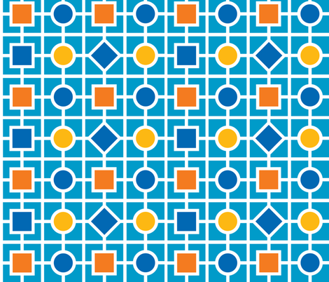 Geometric print - robot colors fabric by shelleymade on Spoonflower - custom fabric