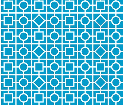Geometric print - blue fabric by shelleymade on Spoonflower - custom fabric