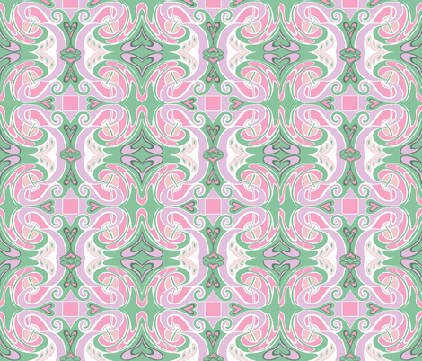 Hearts all a Flutter fabric by thats_artrageous on Spoonflower - custom fabric