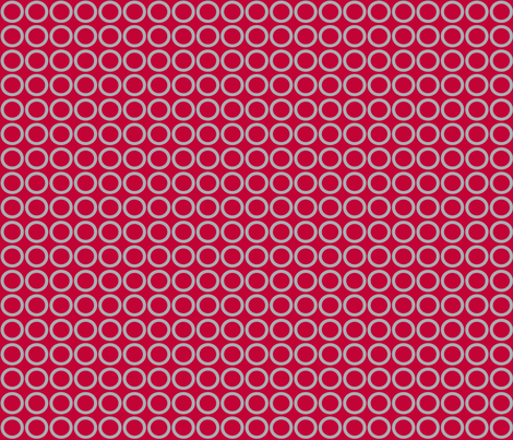 Scarlet Gray Circles fabric by olioh on Spoonflower - custom fabric