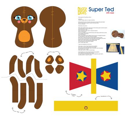 Super Ted ragdoll fabric by kfay on Spoonflower - custom fabric