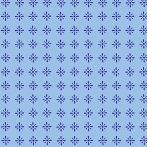 Small Floral repeat blue