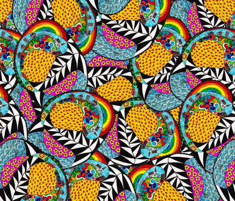 Oh Happy Days fabric by glanoramay on Spoonflower - custom fabric
