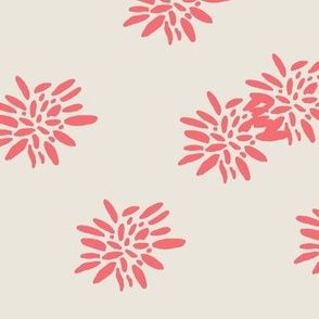 coral floral pattern