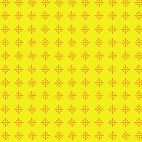 Small Floral repeat yellow and orange
