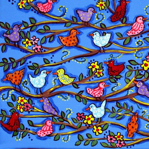 Blue Birdies and Blossoms     IMG_5161