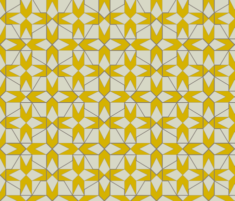 geometricks (mustard) fabric by wednesdaysgirl on Spoonflower - custom fabric