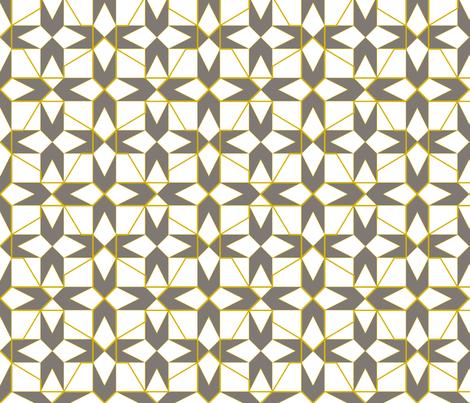 geometricks (taupe) fabric by wednesdaysgirl on Spoonflower - custom fabric
