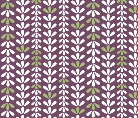 Petals and Stripes fabric by hollyakkerman on Spoonflower - custom fabric