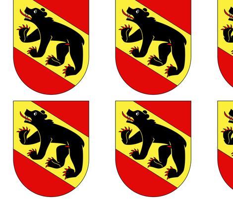 Kantone Bern Flag fabric by kately on Spoonflower - custom fabric