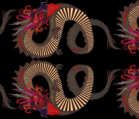 DRAGON INK 90°  fabric by scrummy on Spoonflower - custom fabric