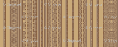 Lacy Stripe in Brown and Wheat © Gingezel™