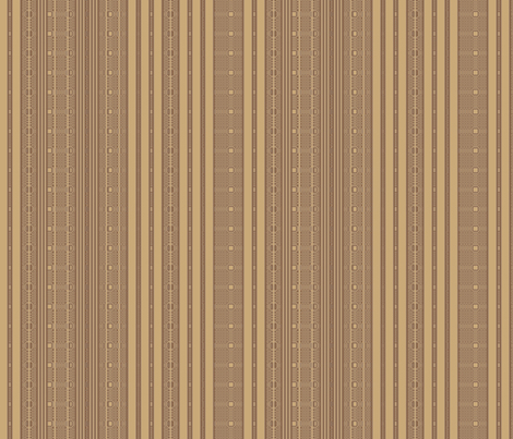 Lacy Stripe in Brown and Wheat © Gingezel™ fabric by gingezel on Spoonflower - custom fabric