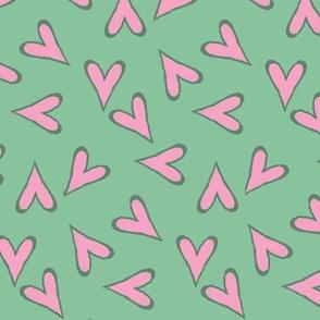 Pink Hearts A Flutter