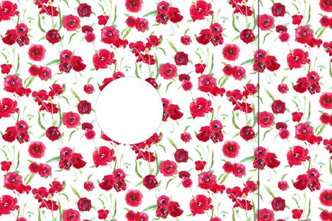 Hankie poppy dress template/pattern fabric by katarina on Spoonflower - custom fabric