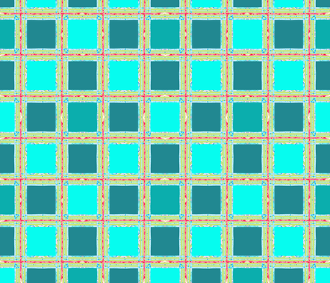 aqua_teal_plaid fabric by katarina on Spoonflower - custom fabric