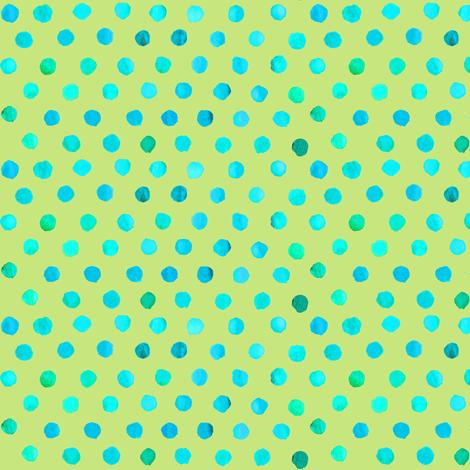 dots_lime_aqua fabric by katarina on Spoonflower - custom fabric