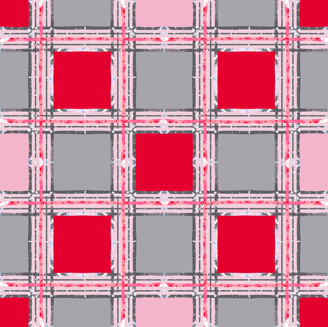 red pink plaid fabric by katarina on Spoonflower - custom fabric