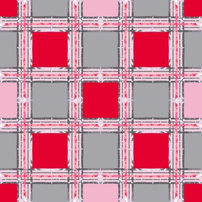 red pink plaid
