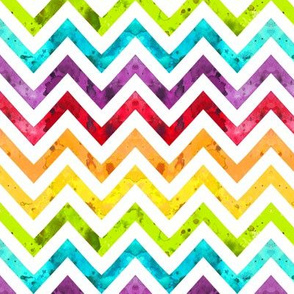 watercolor chevron rainbow smaller scale