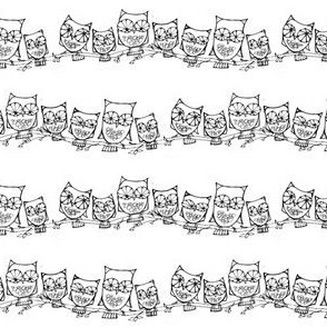 Group of 7 Owls