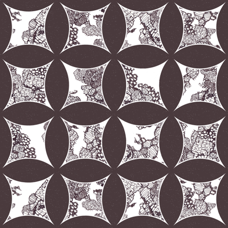 cathedral_window_lace_grey fabric by katarina on Spoonflower - custom fabric