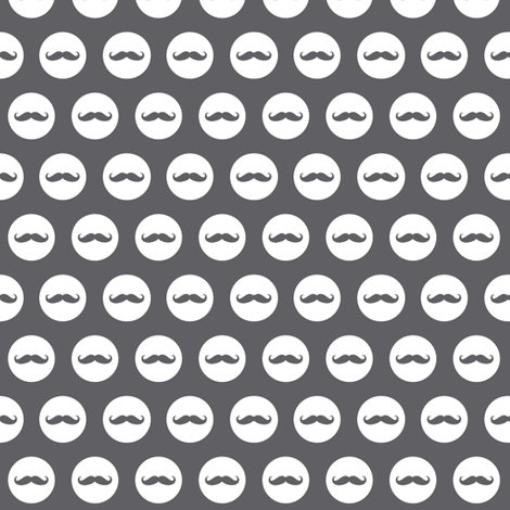 mustache dots grey fabric by katarina on Spoonflower - custom fabric