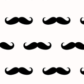 mustache black on white