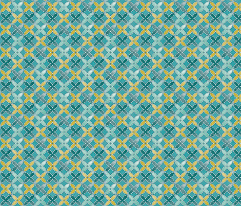Garden geometric fabric by cjldesigns on Spoonflower - custom fabric