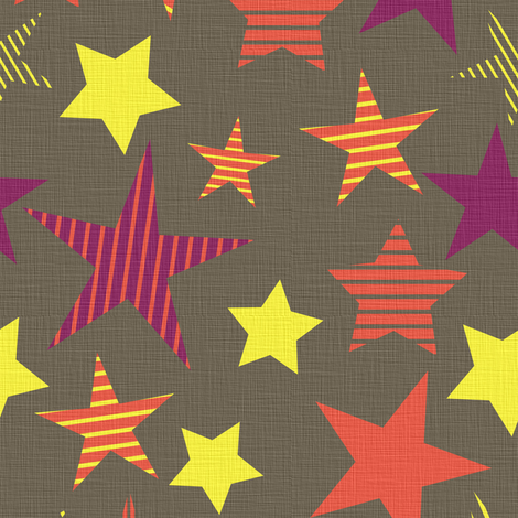 linen_stars fabric by sary on Spoonflower - custom fabric