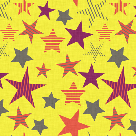 linen_stars_yellow fabric by sary on Spoonflower - custom fabric