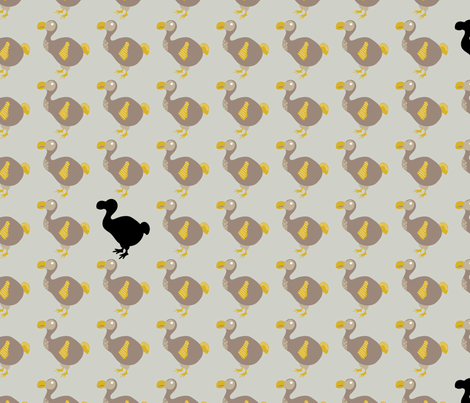 Dodos fabric by ebygomm on Spoonflower - custom fabric