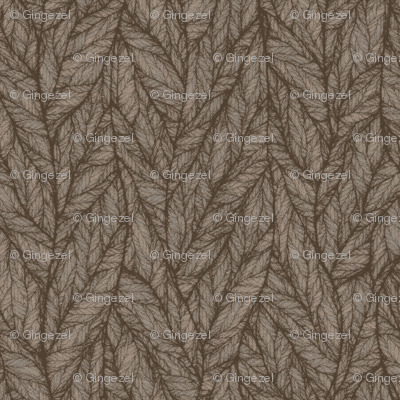 Brown and Beige Leaf Look © Gingezel™ 2010