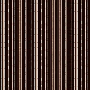 Black Bamboo Look Stripe