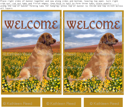 Leonberger double sided Yard flag or welcome banner