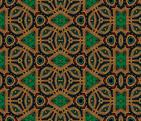 Celtic Crown Jewels fabric by wren_leyland on Spoonflower - custom fabric