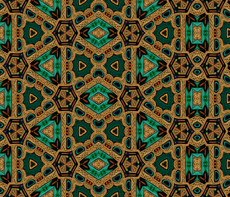 Brave Triad with Celtic Knots fabric by wren_leyland on Spoonflower - custom fabric